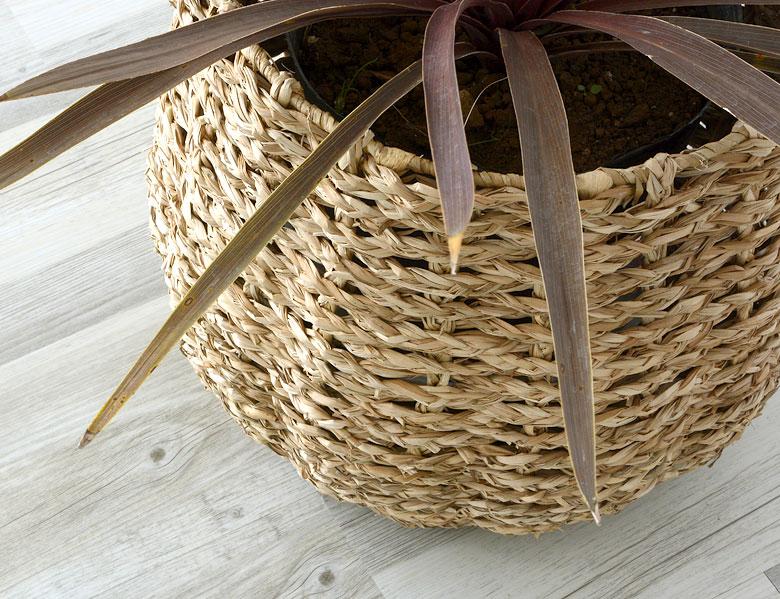 プランターカバー カバー シーグラス 造花 ガーデニング ナチュラル アジア雑貨 アジアン雑貨