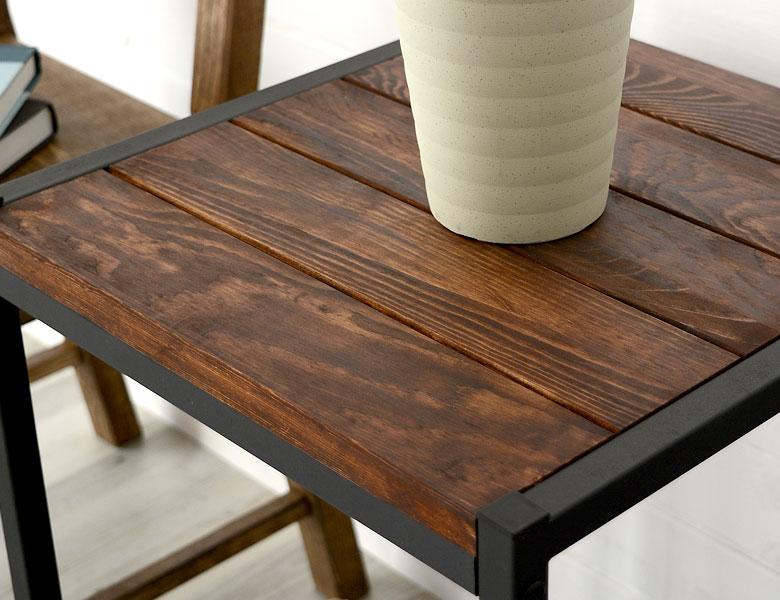 サイドテーブル サイドチェスト ソファテーブル カフェテーブル アイアンフレーム