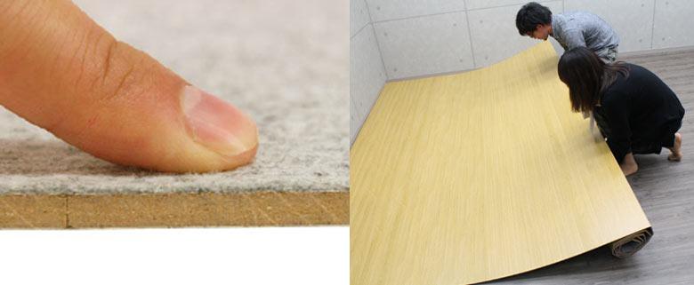 床にキズが付かないよう、裏に布を使用