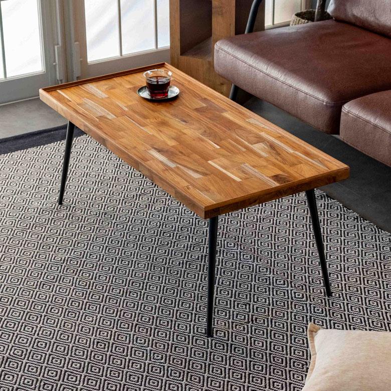 モザイク模様のコーヒーテーブル