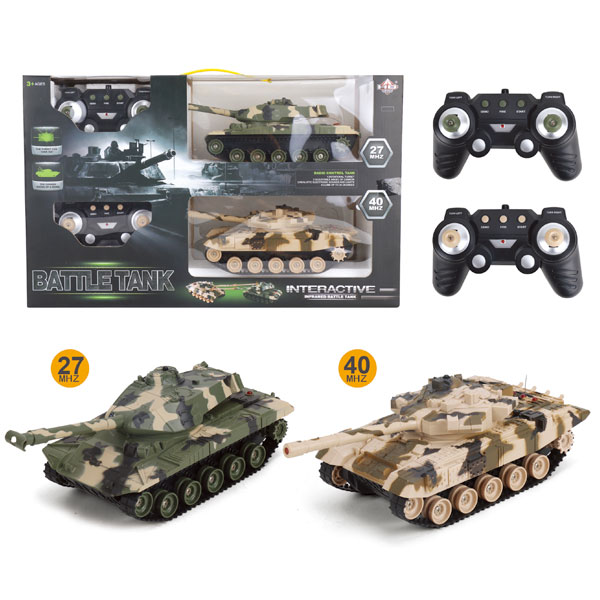 ラジコン バトルタンクSP 2台セット ラジコンカー BATTLE TANK 戦車 戦闘機 戦闘車 対戦 誕生日 誕生日会 お祝い クリ…