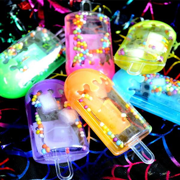 【スライム 粘土】【24個セット】アイスキャンディ水晶パテ2 おもちゃ 玩具 景品 ねんど 縁日 お祭り 景品 かわいい …