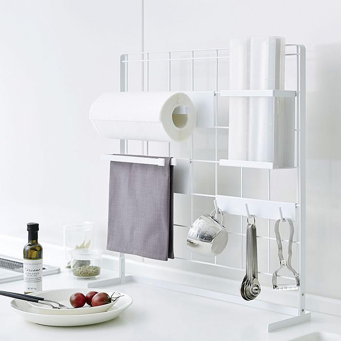 キッチン自立式メッシュパネル