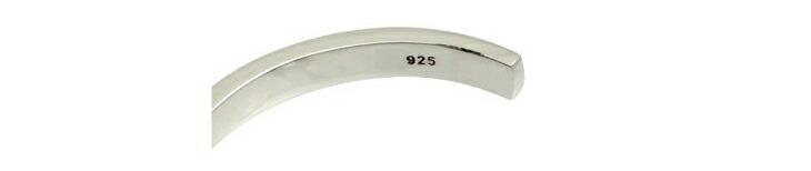 ブランド LARA Christie(ララクリスティー)のセイントグラス バングル(ブラックレーベル)の「925」の刻印。