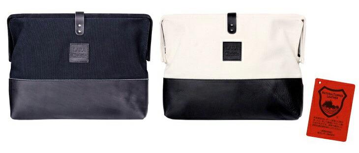 ブランド LARA Christie(ララクリスティー)のドレスデン コレクション 口枠クラッチバッグ ホワイト ブラックの全体像。