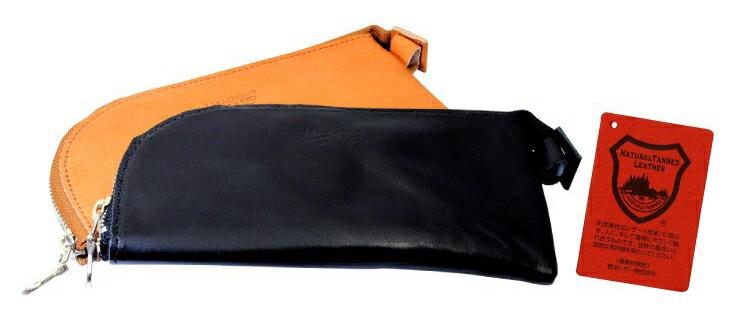 ブランド LARA Christie(ララクリスティー)のペンケース ファスナー 栃木レザーの全体像。