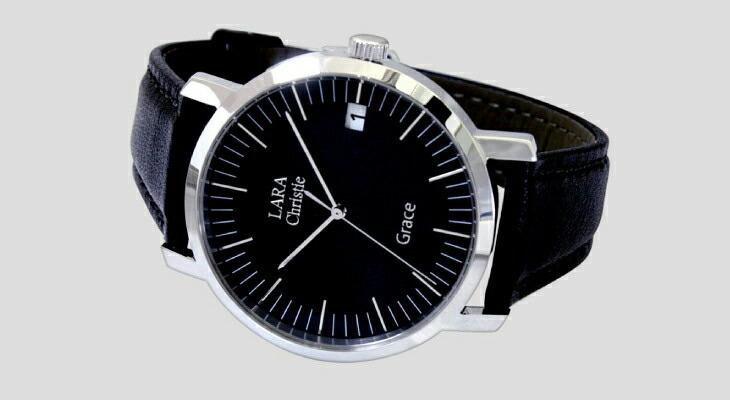 ブランド LARA Christie(ララクリスティー)のグレース 腕時計 メンズ ウォッチ(ブラックレーベル)の文字盤。