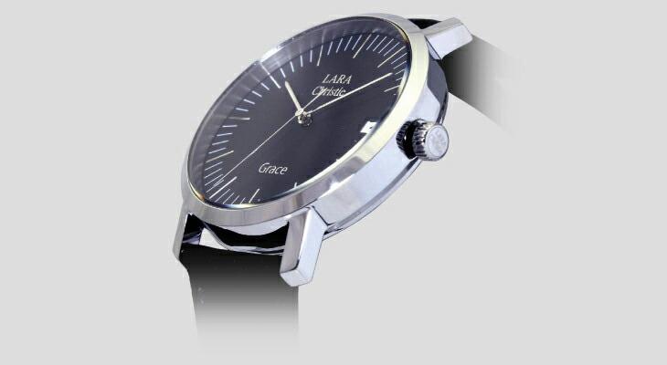 ブランド LARA Christie(ララクリスティー)のグレース 腕時計 メンズ ウォッチ(ブラックレーベル)のベゼル。