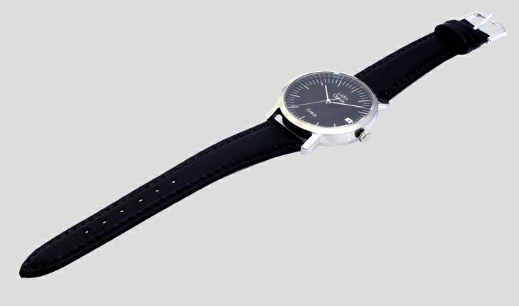 ブランド LARA Christie(ララクリスティー)のグレース 腕時計 メンズ ウォッチ(ブラックレーベル)の本革ベルト。