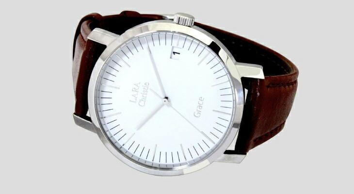 ブランド LARA Christie(ララクリスティー)のグレース 腕時計 レディース ウォッチ(ホワイトレーベル)の文字盤。