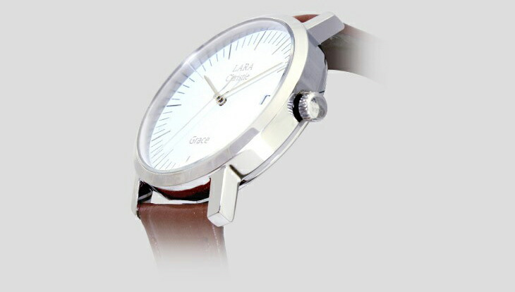 ブランド LARA Christie(ララクリスティー)のグレース 腕時計 レディース ウォッチ(ホワイトレーベル)のベゼル。