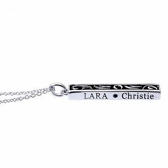 ブランド LARA Christie(ララクリスティー)のセイントグラス ネックレス(ブラックレーベル)の後ろ。