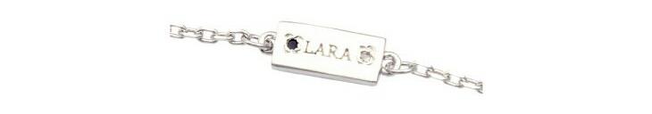 ブランド LARA Christie(ララクリスティー)のコルセア チェーン(ホワイトレーベル)のブランドロゴの刻印。