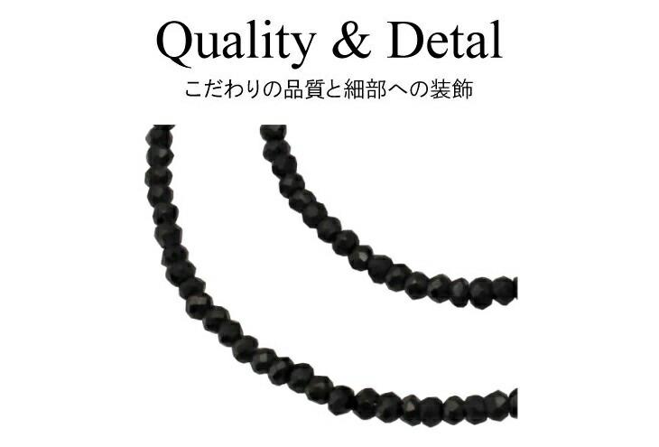 ブランド LARA Christie(ララクリスティー)のブラック スピネル ネックレスの拡大。