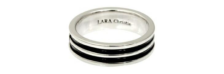ブランド LARA Christie(ララクリスティー)のオリンピア リング(ブラックレーベル)の刻印。