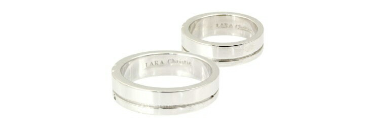 ブランド LARA Christie(ララクリスティー)のスモールハピネス ペアリングの刻印。