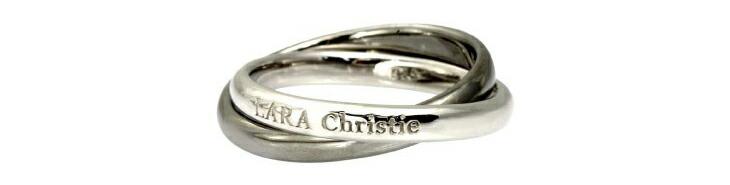 ブランド LARA Christie(ララクリスティー)のロンド リング(ブラックレーベル)の刻印。