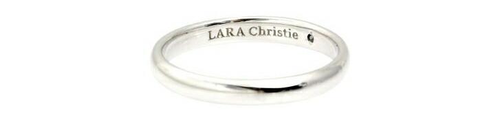 ブランド LARA Christie(ララクリスティー)のエターナルビューティー リング(ブラックレーベル)の刻印。