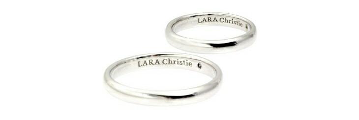 ブランド LARA Christie(ララクリスティー)のエターナル ビューティー ペアリングの刻印。