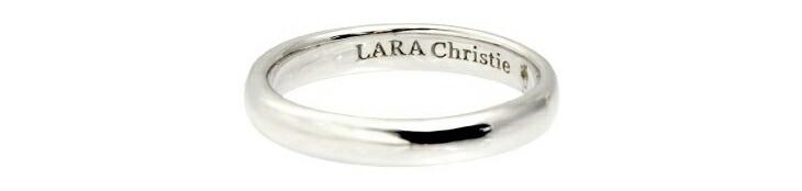 ブランド LARA Christie(ララクリスティー)のエターナルビューティー リング(ホワイトレーベル)の刻印。