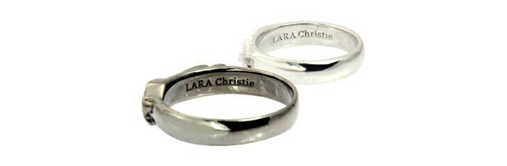 ブランド LARA Christie(ララクリスティー)のヴィクトリア ペアリングの刻印。