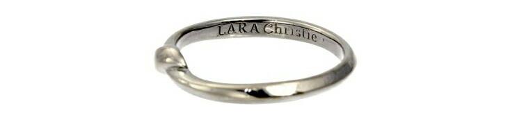 ブランド LARA Christie(ララクリスティー)のレガメ リング(ブラックレーベル)の刻印。