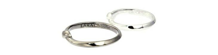 ブランド LARA Christie(ララクリスティー)のレガメ ペアリングの刻印。