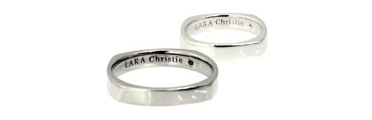 ブランド LARA Christie(ララクリスティー)のアモーレ ペアリングの刻印。