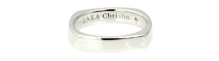 ブランド LARA Christie(ララクリスティー)のアモーレ リング(ホワイトレーベル)の刻印。