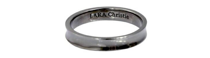 ブランド LARA Christie(ララクリスティー)のダカーポ リング(ブラックレーベル)の刻印。