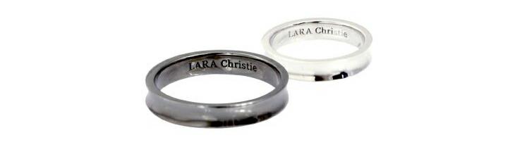 ブランド LARA Christie(ララクリスティー)のダカーポ ペアリングの刻印。