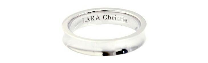 ブランド LARA Christie(ララクリスティー)のダカーポ リング(ホワイトレーベル)の刻印。