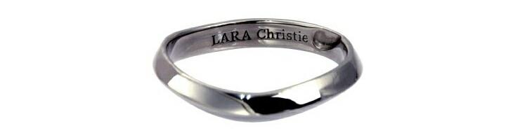 ブランド LARA Christie(ララクリスティー)のマリアージュ リング(ブラックレーベル)の刻印。