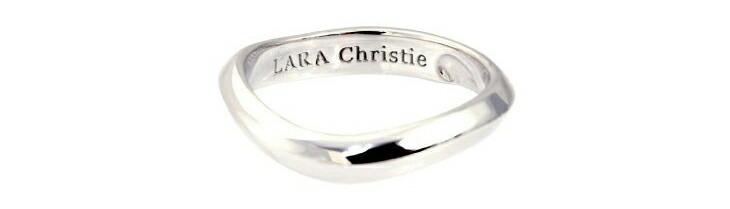 ブランド LARA Christie(ララクリスティー)のマリアージュ リング(ホワイトレーベル)の刻印。