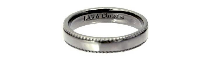 ブランド LARA Christie(ララクリスティー)のギャラクシー リング(ブラックレーベル)の刻印。