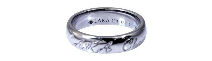 ブランド LARA Christie(ララクリスティー)のロマンス リング(ブラックレーベル)の後ろ。