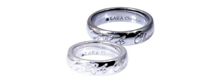 ブランド LARA Christie(ララクリスティー)のロマンス ペア リングの後ろ。