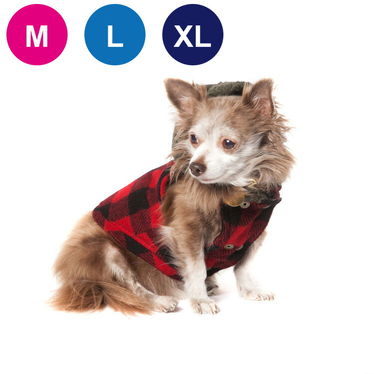 ウール&キャンバス レ ッド・バッファロー・プラッド&ブラウン M/L/XLサイズ
