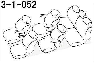 品番3-1-052のヴォクシー座席レイアウト