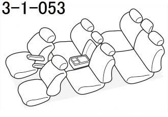 品番3-1-053のヴォクシー座席レイアウト