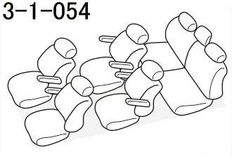 品番3-1-054のヴォクシー座席レイアウト