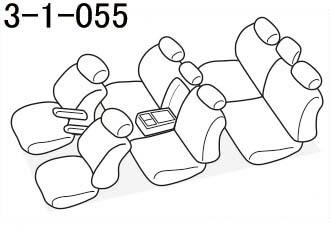 品番3-1-055のヴォクシー座席レイアウト