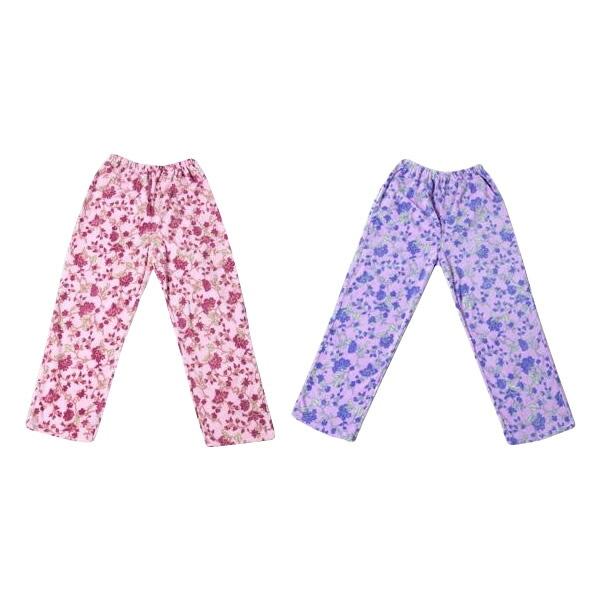 欲しかった裏起毛パジャマの下2色組(ピンク・ラベンダー) 3L・SPP-10085