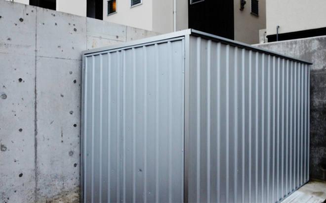 ユーロ物置 1530SQ1 シルバー 物置本体のみ (床なし+アンカーなし) キューブ型 片側開き戸_使用・設置イメージ06