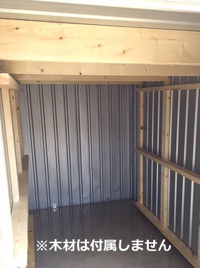 ユーロ物置 1530SQ1 シルバー 物置本体のみ (床なし+アンカーなし) キューブ型 片側開き戸_使用・設置イメージ08