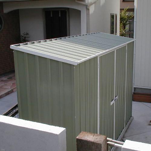 ユーロ物置 3008K2 シルバー 物置本体のみ (床なし+アンカーなし) 片流れ屋根 二枚扉_使用・設置イメージ02