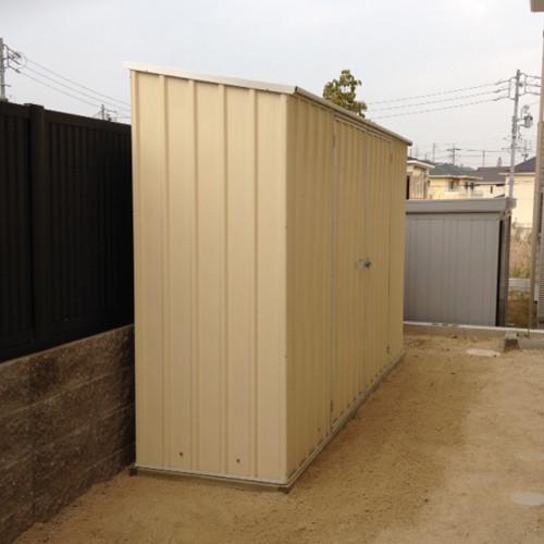 ユーロ物置 3008K2 シルバー 物置本体のみ (床なし+アンカーなし) 片流れ屋根 二枚扉_使用・設置イメージ04