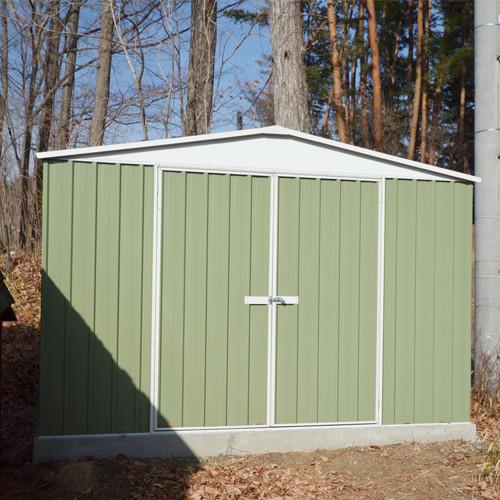 ユーロ物置 3014F2 シルバー 物置本体のみ (床なし+アンカーなし) 三角屋根 二枚扉_使用・設置イメージ05