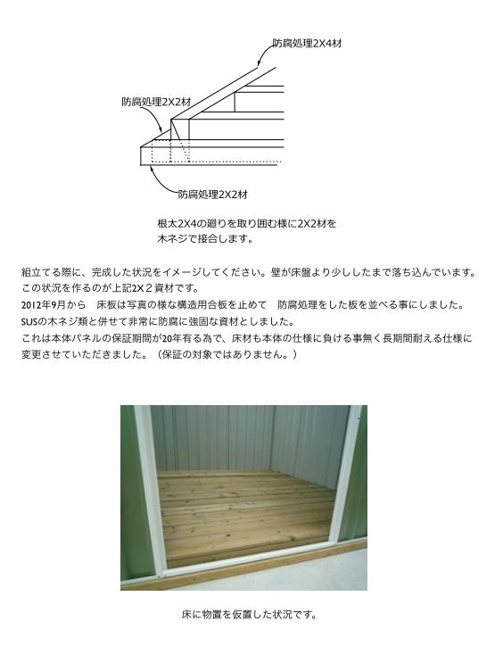ユーロ物置 1530SQ1 組立説明書 [木製床]_04
