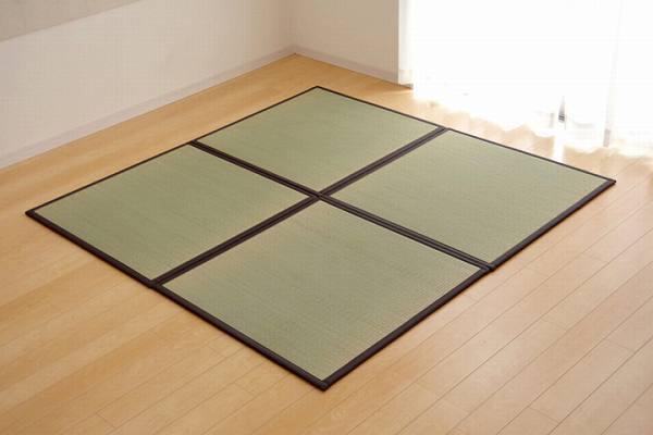 置き畳 半畳 い草ラグ 『かるピタ』 82×82cm 9枚組